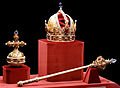 Imperial Crown of Austria Globus cruciger Sceptre.jpg