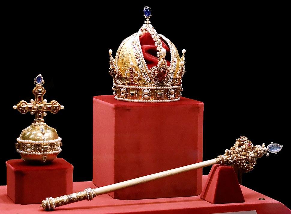 Imperial Crown of Austria Globus cruciger Sceptre