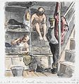 In a South African Whaler on Corvette Duties - seamen beside their bunks Art.IWMARTLD2936.jpg