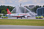 Inaugural Atlasjet Ukraine flight from Kiev Zhulyany to Lviv arrives in Lviv.jpeg