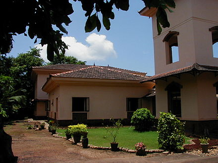 The campus of the Thomas Stephens Konknni Kendr (TSKK), a research institute working on issues related to the Konkani language, located at Alto Porvorim, near Panaji in Goa India Goa TSKK.jpg
