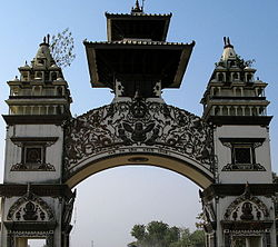 The gate in Birganj on the India-Nepal border