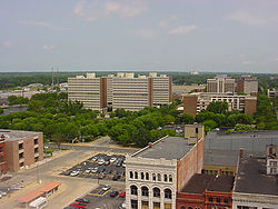 The campus of Indiana State University.