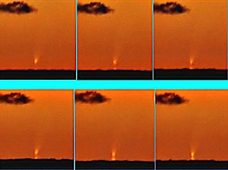Mirage of astronomical objects - Inferior mirage of comet C/2006 P1 McNaught