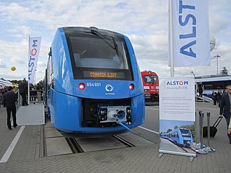 Hydrail - Debut of the Alstom Coradia iLint, a hydrogen-powered passenger train, at InnoTrans 2016