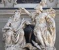 Interior of Santi Giovanni e Paolo (Venice) -Virtue crowns the merit of Giovanni Bonazza.jpg