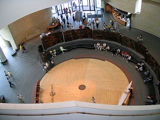 National Museum of the American Indian - Interior view looking down toward the entrance