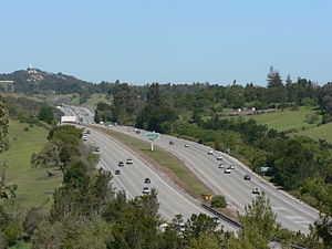 Interstate 280 (California) - Interstate 280 near Stanford University