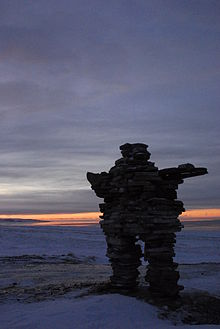 Inukshuk Sunset Kuujjuaraapik January.jpg