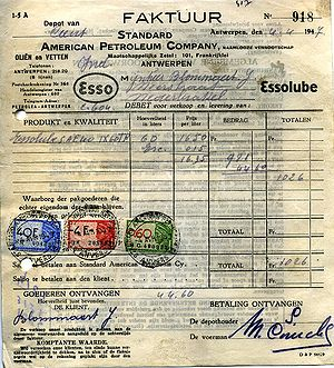 Invoice from Standard American Petroleum Compa...