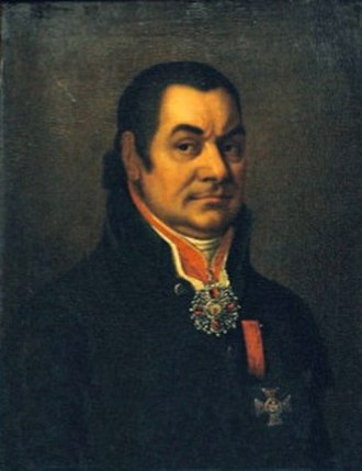 Ioannis Varvakis - An oil portrait of Varvakis, attributed to Vladimir Borovikovsky.