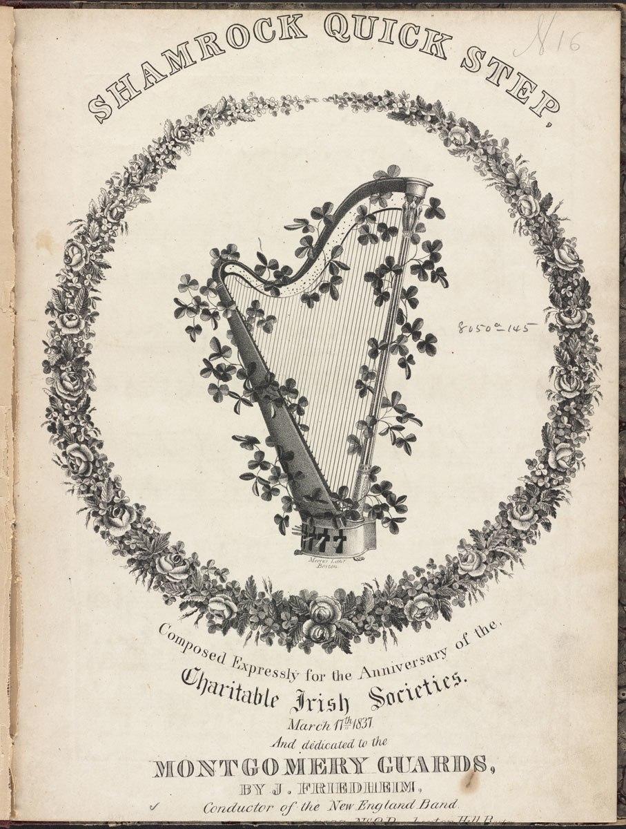 Irish Harp (Boston Public Library)