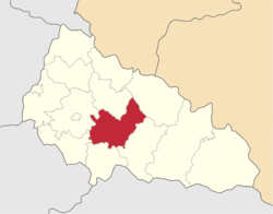 Location of Iršavas rajons