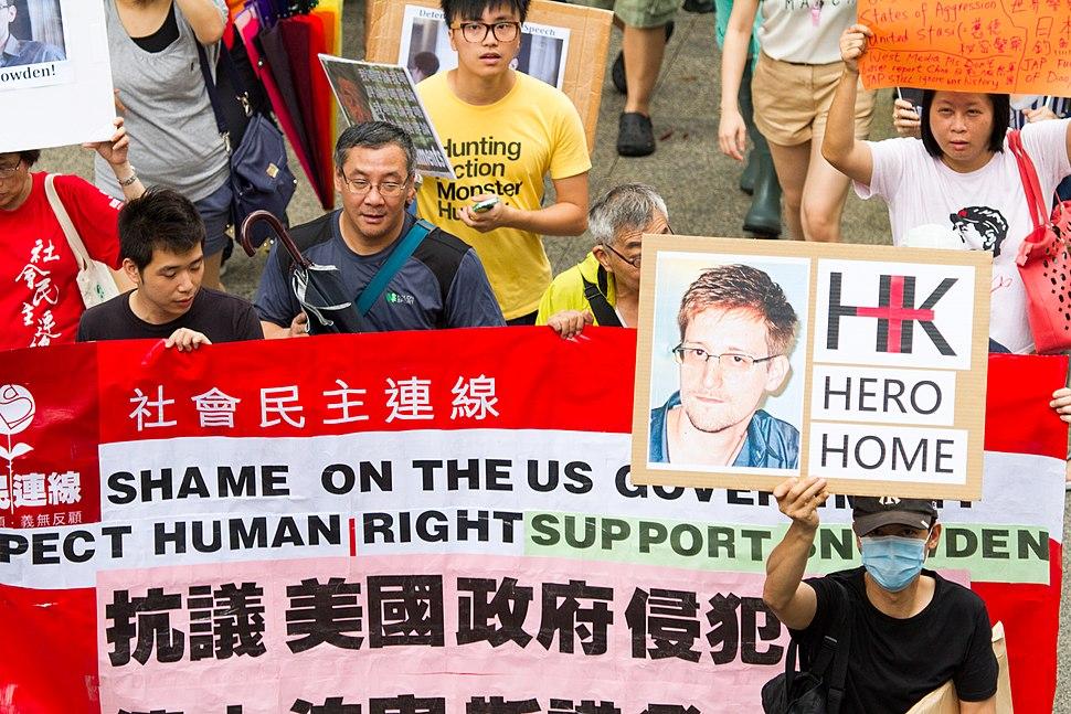 Is Snowden a Hero? SnowdenHK 香港聲援斯諾登遊行 Hong Kong Rally to Support Snowden SML.20130615.7D.42298