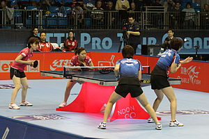 Ishikawa and Fukuhara at Table Tennis Pro Tour Grand Finals 2011 (2).jpg