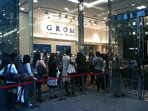 Grom (company) - Grom shop in Shinjuku, Tokyo
