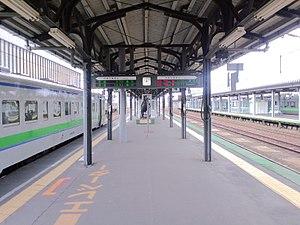 Iwamizawa Station - Image: Iwamizawa sta track 3 4