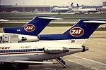 JAT B727-200 YU-AKF at LHR (16142428852).jpg