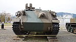 JGSDF Type 60 Armoured Personnel Carrier(No.0031M) front view at Camp Nihonbara October 1, 2017.jpg