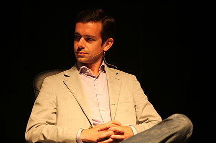 Jack Dorsey, co-founder and CEO of Twitter, in 2009 Jack Dorsey - TechCrunch Real-Time Stream Crunchup - 2009.jpg