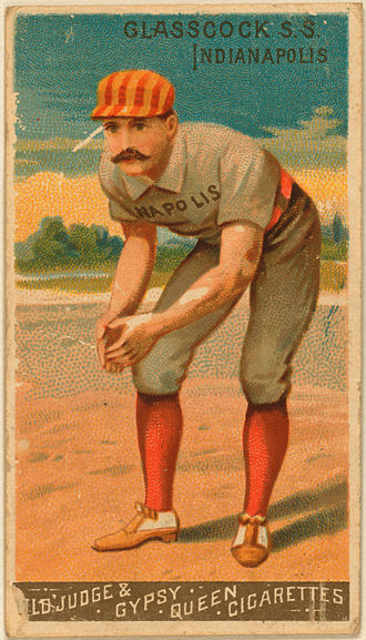 "Goodwin & Company - ""Goodwin's Champions"" tobacco card of Jack Glasscock, issued in 1888"