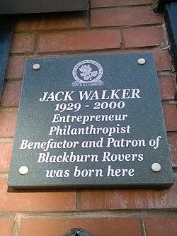 Photo of Jack Walker black plaque