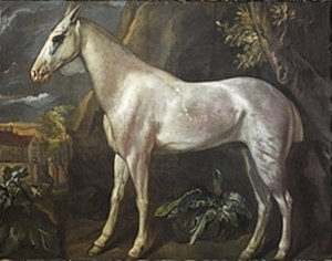 Jacob Peter Gowy - The Marquess of Worcester's dappled grey stallion