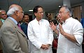 Jairam Ramesh, the Chief Minister of Assam Shri Tarun Gogoi, the TCS Chief Executive Officer and Managing Director, Shri S Ramadorai discussing about the proposed investment in IT sector in Guwahati on August 31, 2007.jpg