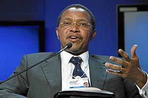 English: Jakaya Kikwete at the World Economic ...