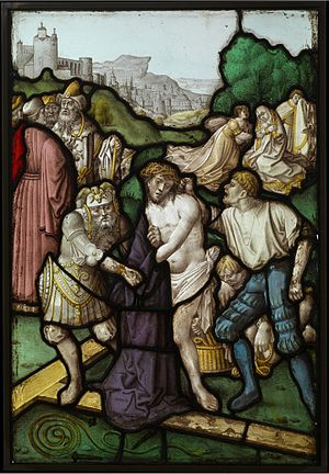 Jan Rombouts I - Preparation for the Crucifixion, stained glass