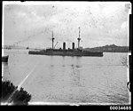 Japanese naval ship HJIMS ASAMA off Sydney Cove, January 1924 (7212613440).jpg
