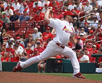 Jason Isringhausen - Isringhausen pitching for the St. Louis Cardinals in 2007.