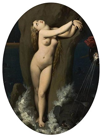 Roger Freeing Angelica (Ingres) - Angelica, 1859, São Paulo Museum of Art