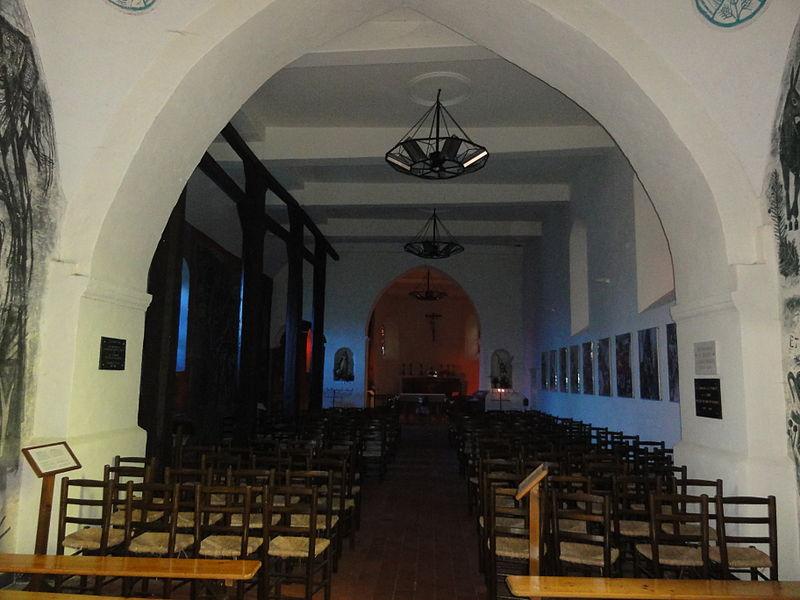 Jeantes (Aisne) église intérieur