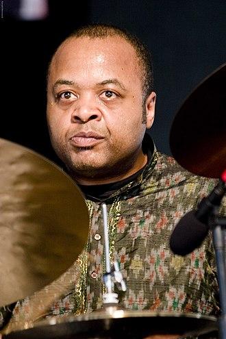 """Jeff """"Tain"""" Watts - Watts performing with Wynton Marsalis in JazzFest 2007"""