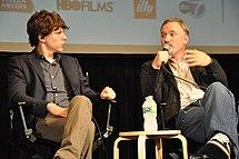 Eisenberg and Fincher at the 2010 New York Film Festival