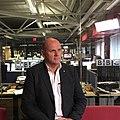 Jim Gamble being interviewed at the BBC Belfast Studio.jpg