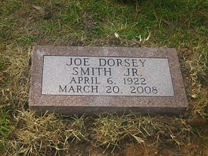 Joe D. Smith Jr. - Grave of Joe D. Smith Jr., in Greenwood Memorial Park in Pineville, Louisiana