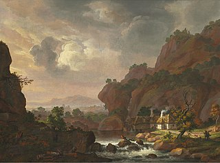 Nordic Landscape with a Thatched Cottage