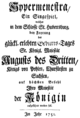 Johann Adolph Hasse - Ipermestra - german titlepage of the libretto - Hubertusburg 1751.png