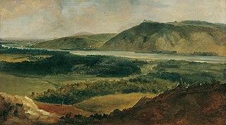 Donaulandschaft, vom Bisamberg aus gesehen