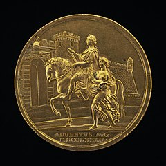 Emperor Joseph II and Abundance Approaching a City Gate [reverse]