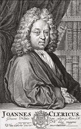 Johannes Clericus; kopergravure door Bernard Picart van 1710