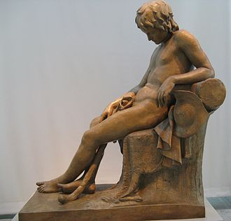 John Gibson (sculptor) - Sleeping Shepherd Boy (1824)