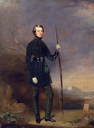 John Logan Campbell (politician) - John Logan Campbell in the club dress of the Edinburgh Alleion Archers (Mungo Burton, 1838)