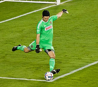 John McCarthy (soccer) - Image: John Mc Carthy kicks