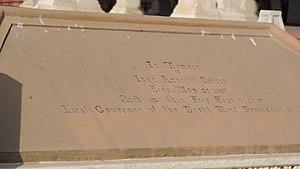John Russell Colvin - Inscription on Colvin's tomb, 2013