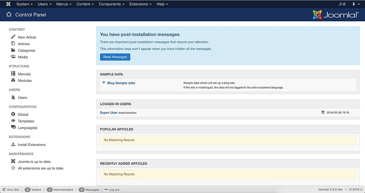Joomla wikipedia for Joomla administrator templates