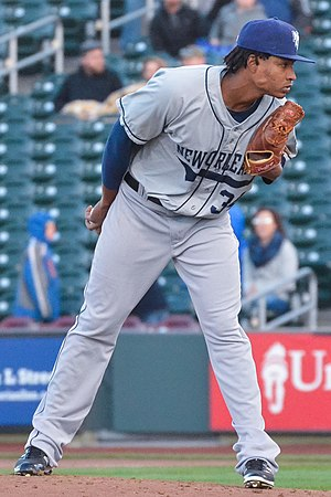 José Ureña - Ureña pitching for the New Orleans Zephyrs in 2016