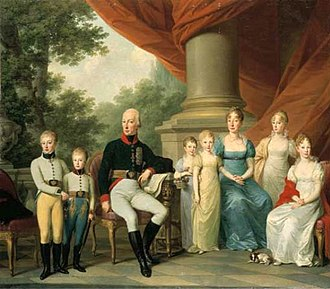 Maria Theresa of Naples and Sicily - Maria Theresa with her husband and children.